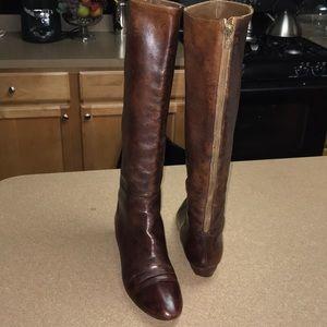 Loeffler Randall wedged knee high boots